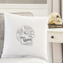 Cathy's Concepts Alas Poor Yorick 16 in. L x 16 in. W Halloween Throw Pillow