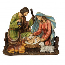 31 in. H Solar Powered Magnesium Holy Family