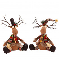 15 in. H Plush Reindeer (Set-2)