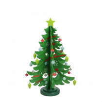13.75 in. Decorative Wooden Christmas Tree Cut-Out Table Top Decoration