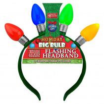 4-LED Multi Colored Holiday Big Bulb Flashing Headbands