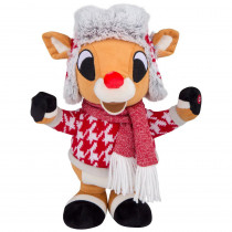 12.60 in. Small Side Stepper-Rudolph in Red and White