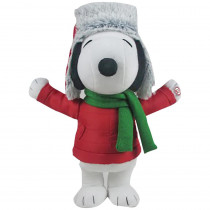 13.39 in. Small Side Stepper-Snoopy with Green Scarf and Hat
