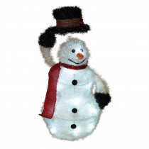 19 in. H Battery Operated Outdoor Tinsel Snowman