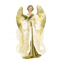 28 in. Christmas Animated Musical Christmas Angel with Classic Elegant Dress-Up