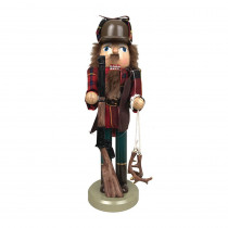 14 in. Christmas Retro Deer Hunter Nutcracker with Gun