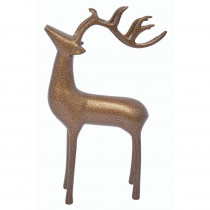 18 in. Aluminum Decorative Reindeer in Gold