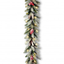 9 ft. Dunhill Fir Garland with Clear Lights