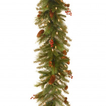6 ft. Noelle Garland with Battery Operated Warm White LED Lights