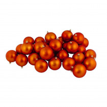 12ct Matte Burnt Orange Shatterproof Christmas Ball Ornaments