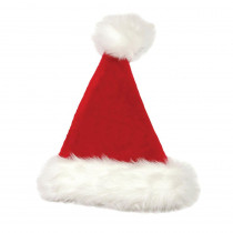 17 in. Plush Red and White Santa Hat