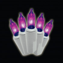 100-Light Mini Purple Lights (Set of 2)
