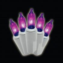 100-Light Mini Purple Lights (Set of 2)