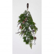 28 in. Pine/Cone Cypress Teardrop