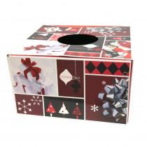 6 in. Dia Burgundy and Red Original Christmas Tree Skirt Box
