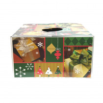 6 in. Dia Green and Gold Original Christmas Tree Box Skirt