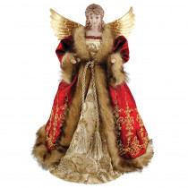 16 in. Red Imperial Angel Tree Topper