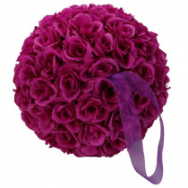 9.8 in. Purple Flower Ball Wedding Decoration