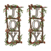 35 in. H Natural Twig Wreath (Set of 2)