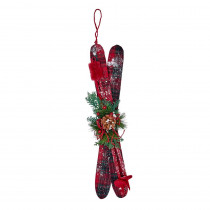 22 in. Hanging Plaid Snow Skis