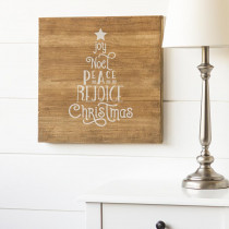 16 in. Christmas Wood Wall Art with Christmas Tree Design