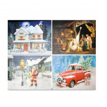 15 in. x 20 in. Christmas Musical LED Canvas