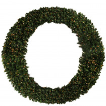 96 in. Pre-Lit Deluxe Windsor Pine Commercial Size Artificial Christmas Wreath