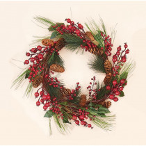 20 in. Mixed Weatherproof Berry Wreath