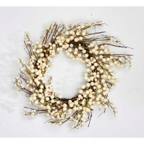 19 in. White Berry Wreath