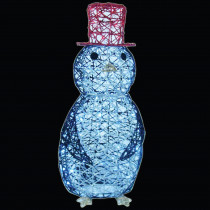 32 in. LED Spun Glitter Penguin Wireframe Silhouette