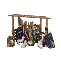 56 in. Outdoor Nativity Set with Creche (12-Piece)