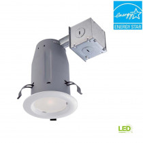 Commercial Electric 3 in. White LED Recessed Baffle Kit