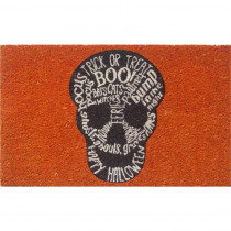 Entryways Skull 17 in. x 28 in. Non-Slip Coir Door Mat
