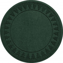 Bungalow Flooring Aqua Shield Evergreen 35 in. Round Pine Trees Under the Tree Mat