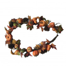 6 ft. Unlit Artificial Harvest Maple Leaves Garland