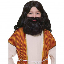 Forum Novelties Brown Biblical Wig and Beard Children's Set
