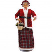 Fraser Hill Farm 58 in. Christmas Dancing Mrs. Claus with Basket
