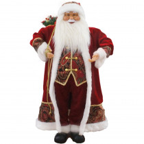 Fraser Hill Farm 36 in. Christmas Music and Motion Santa with Paisley Vest