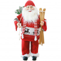 Fraser Hill Farm 36 in. Christmas Music and Motion Santa with Skis