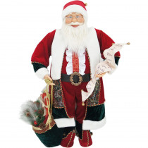 Fraser Hill Farm 36 in. Christmas Music and Motion Santa with List and Toy Sack