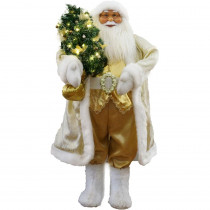 Fraser Hill Farm 36 in. Christmas Music and Motion Santa with Christmas Tree