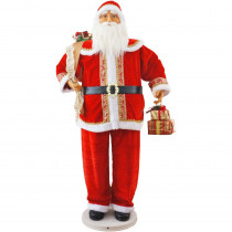 Fraser Hill Farm 58 in. Christmas Dancing Santa with Gifts in Hand