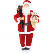 Fraser Hill Farm 58 in. Christmas Dancing Santa with Teddy Bear