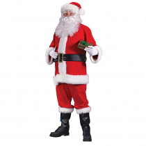 Fun World Plus Size Flannel Santa Suit for Adults