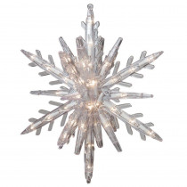 GE 10.75 in. 108-Light 3D Hanging Star with Clear Random Sparkle Lights (3-Piece)