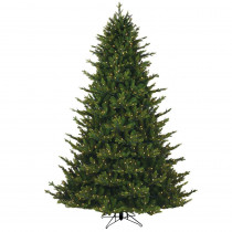 GE 7.5 ft. Just Cut Canadian 1-Plug Artificial Christmas Tree with Dual Color LED