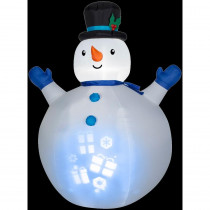 Gemmy 7 ft. H Inflatable Panoramic Projection Snowman