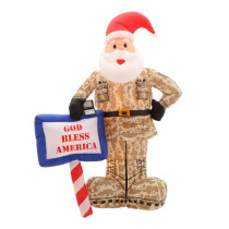 Gemmy 7 ft. Inflatable Military Santa