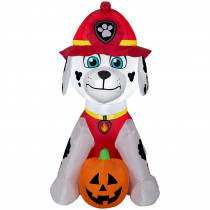 Gemmy 2.99 Pre-Lit Inflatable Marshall with Jack-O-Lantern Airblown