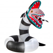 Gemmy 10 ft. Pre-Lit Inflatable Animated Sand Worm from Beetlejuice Airblown